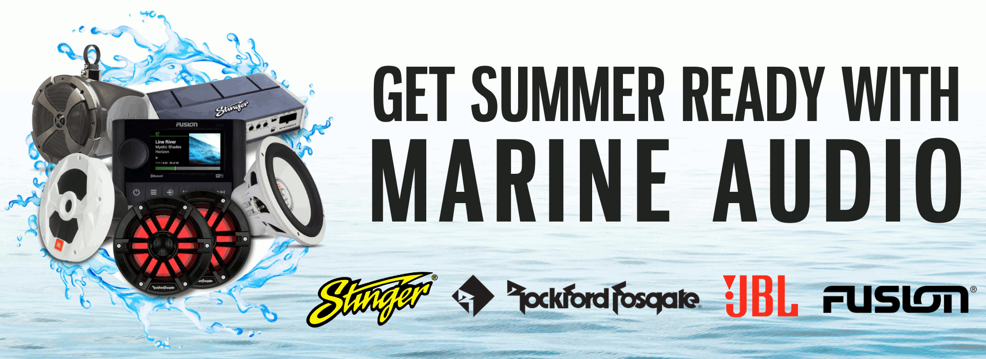 Get ready for summer with marine audio